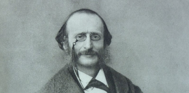 Jacques Offenbach, Fotografie von Félix Nadar. Foto: By Nadar, upload by Adrian Michael [Public domain], via Wikimedia Commons